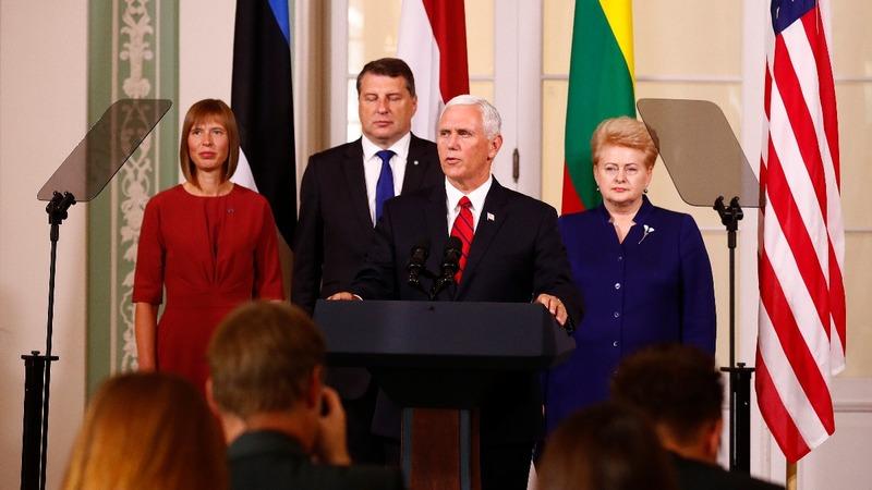 VERBATIM: Pence reaffirms U.S. commitment to NATO