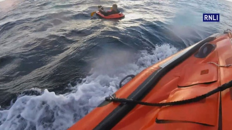 INSIGHT: Dinghy boat rescue one mile off coast
