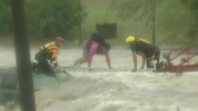 INSIGHT: Treacherous flood rescue for Texas motorist