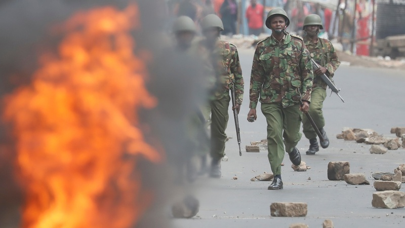 Protests in Kenya follow election hacking claim