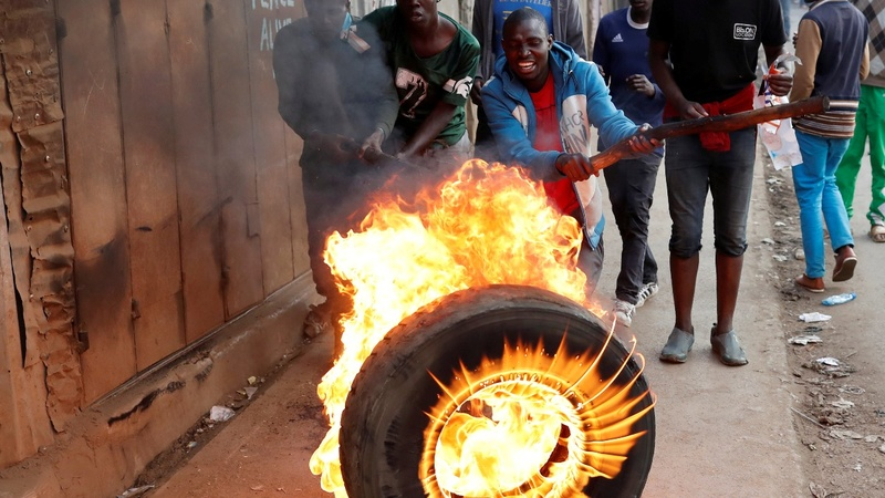 Tensions rise in dispute over Kenya election results