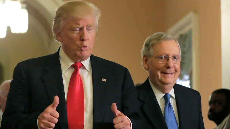 Trump picks fight with McConnell over health care