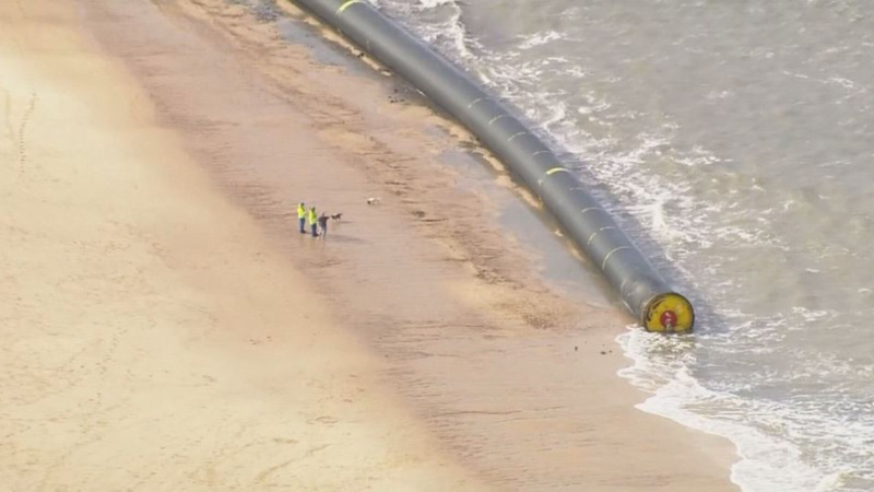 INSIGHT: Massive bore pipes wash up on U.K. shores