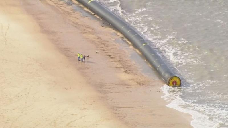 INSIGHT: Massive bore pipes wash up on U.K. shores