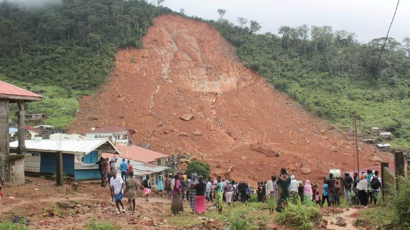 Mudslide kills more than 200 in Sierra Leone