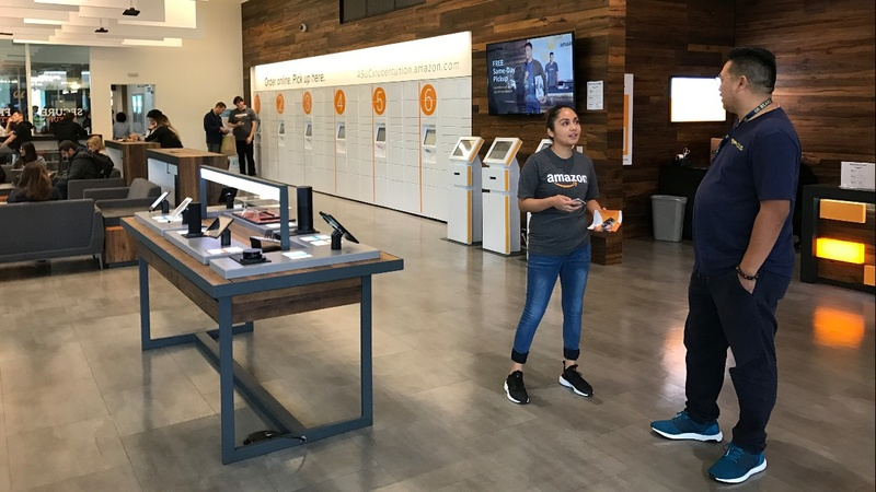Amazon opens 'Instant Pickup' in ongoing retail battle