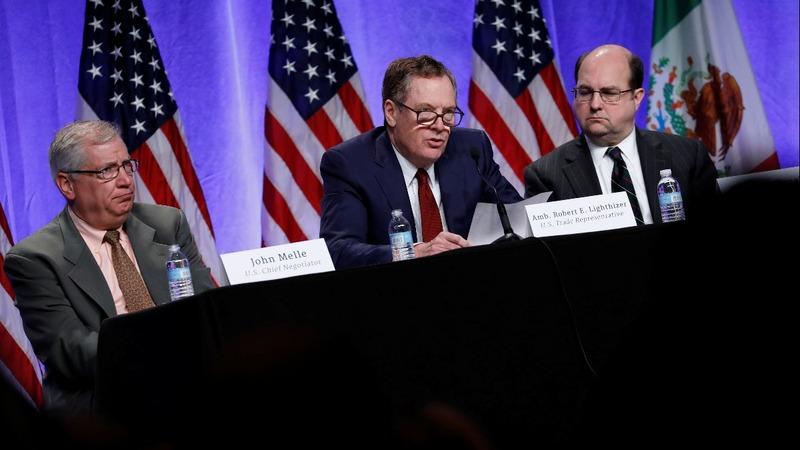 U.S. takes tough tone in NAFTA revamp talks