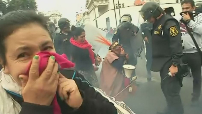 INSIGHT: Teachers clash with riot police in Peru