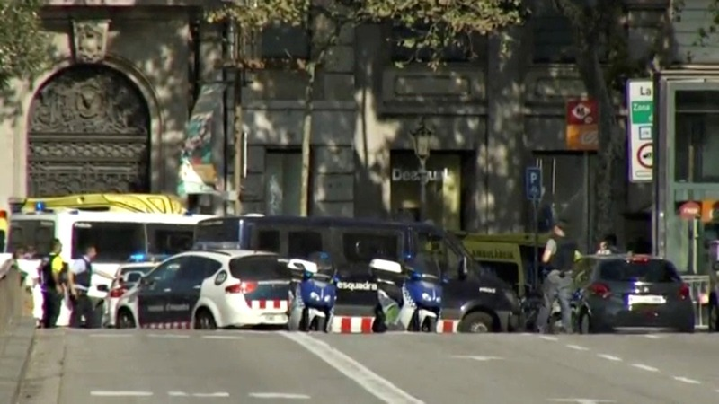 13 killed, scores wounded in Barcelona vehicle attack