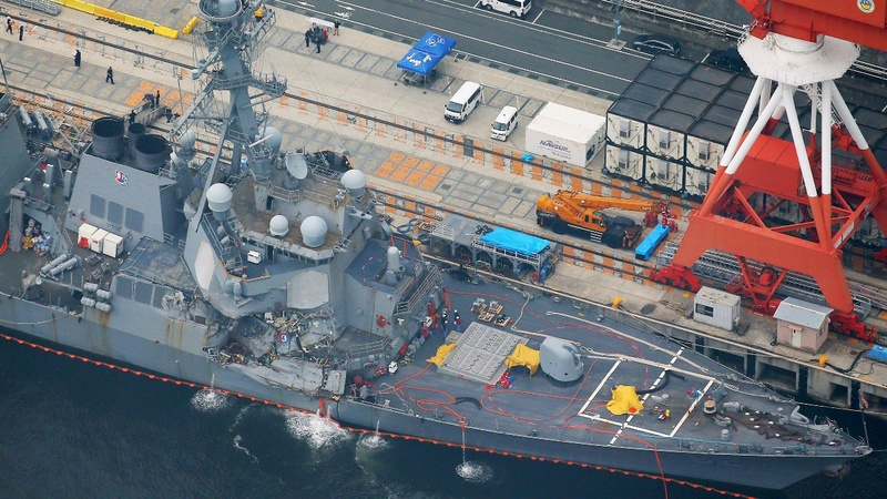 U.S. warship commanders removed following crash