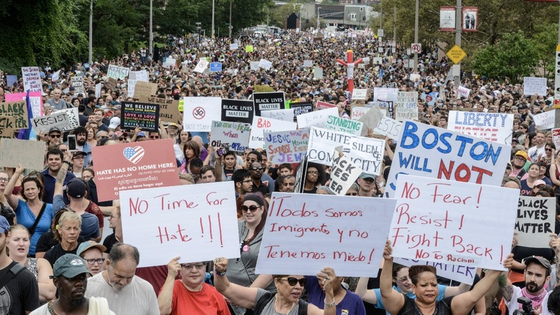INSIGHT: Thousands march against hate in Boston
