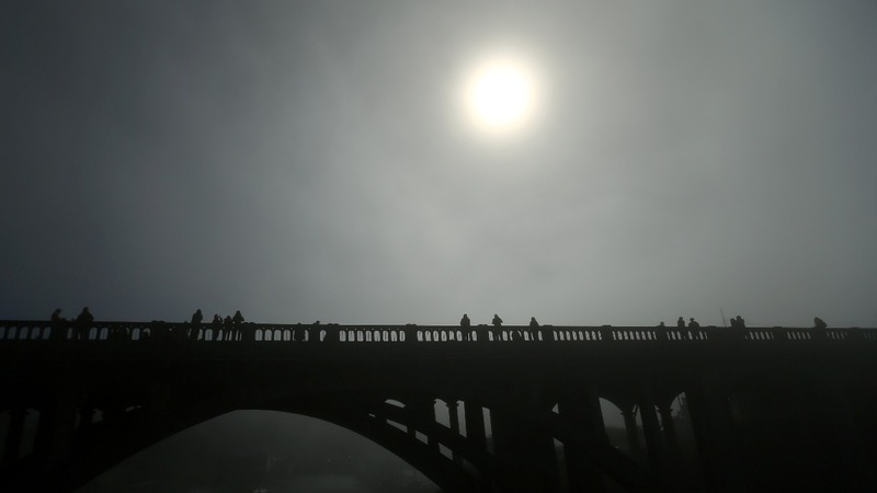 INSIGHT: Time lapse of solar eclipse over Depoe Bay, Or