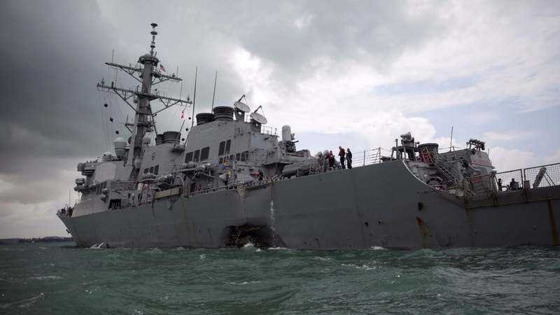 US Navy to halt operations after USS McCain crash