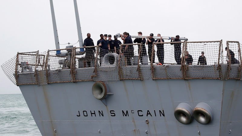 U.S. Navy: human remains found in damaged ship