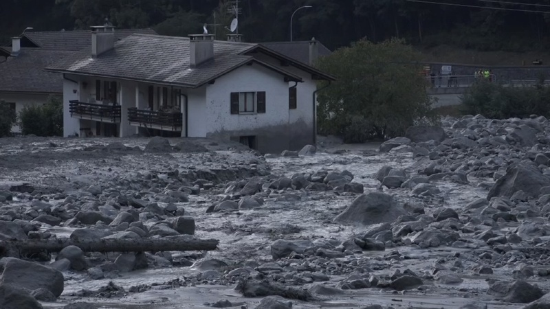 INSIGHT: Landslide hits village in eastern Switzerland