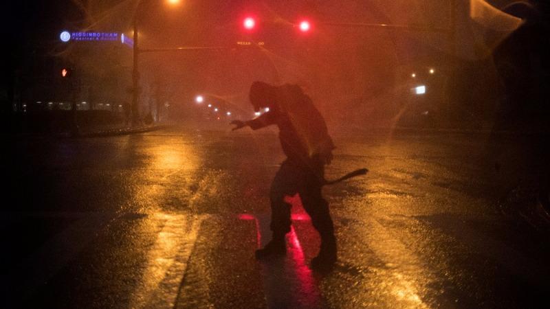 Hurricane Harvey slows after bashing into Texas