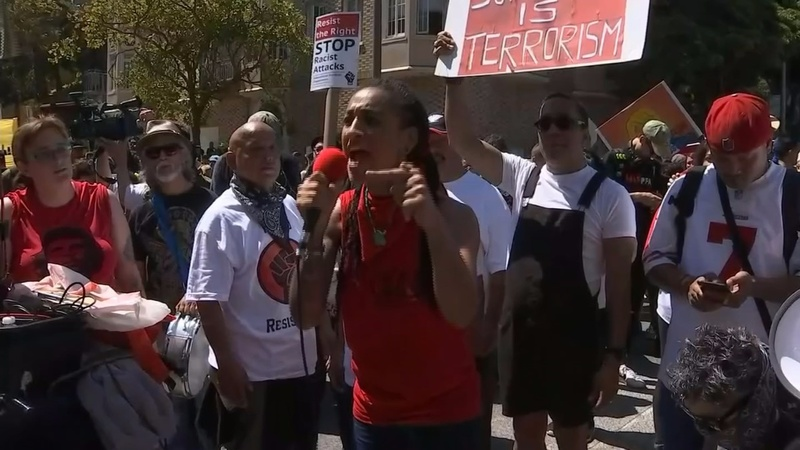 Protesters turn out in San Francisco despite cancelled rally