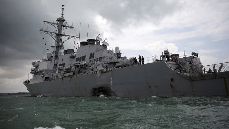 All sailors' remains from damaged warship found: U.S. Navy