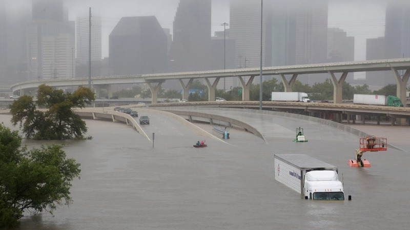 Harvey pounds Houston with catastrophic flooding