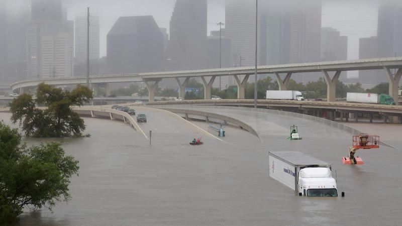 Harvey pounds Houston with catastrophic flooding