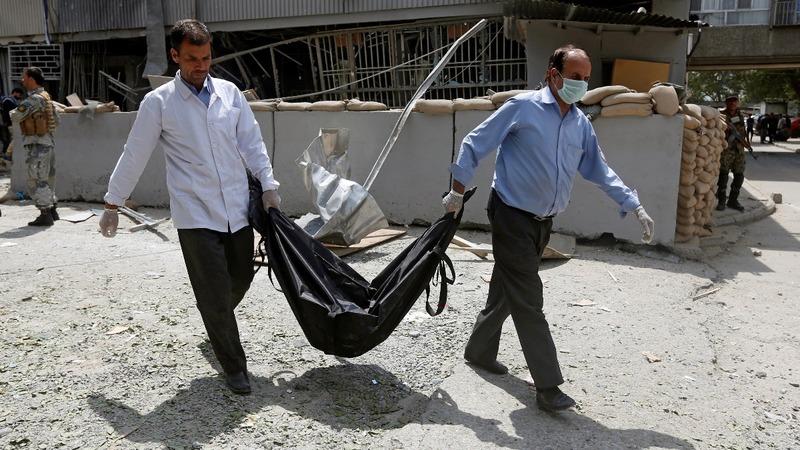 Kabul suicide bomber kills 5 near U.S. embassy