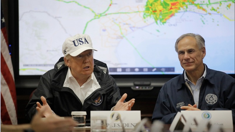 VERBATIM: Trump attends briefing on tropical storm Harvey