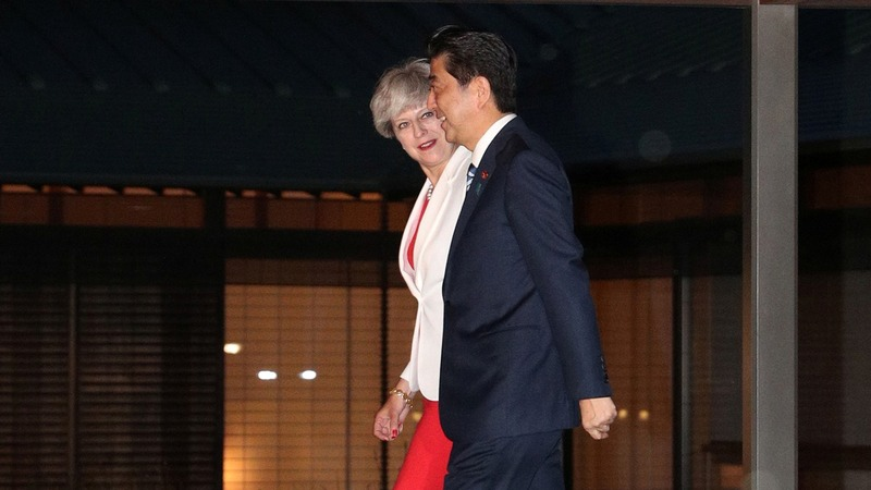 May in Japan to discuss trade, Brexit
