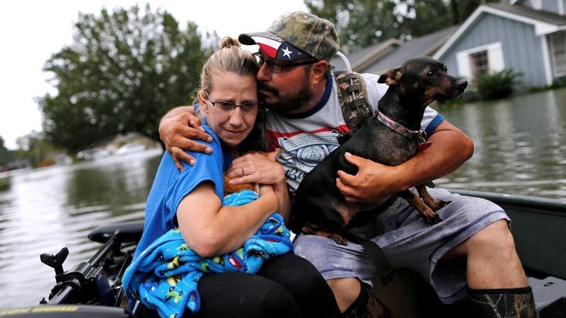 Waters still rising in Houston as Harvey heads east