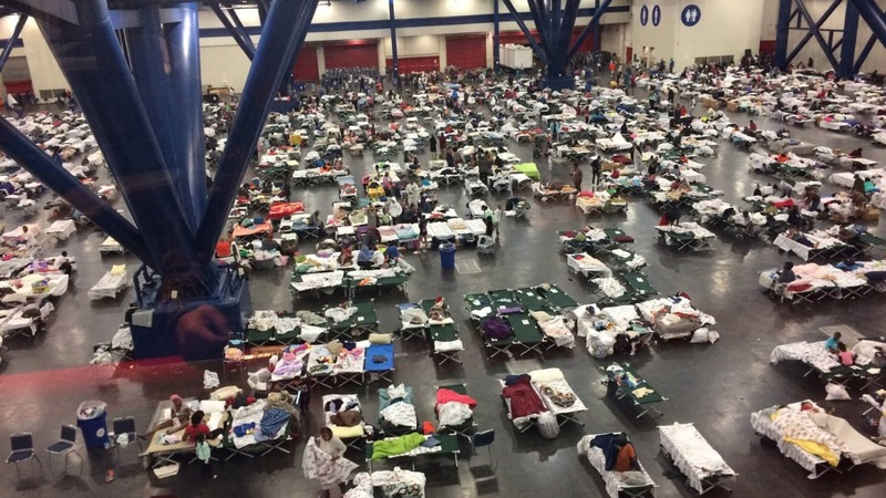 Harvey refugees continue pouring into shelters