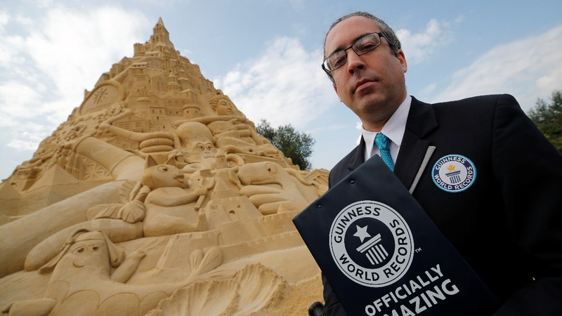 INSIGHT: World's tallest sandcastle built in Germany