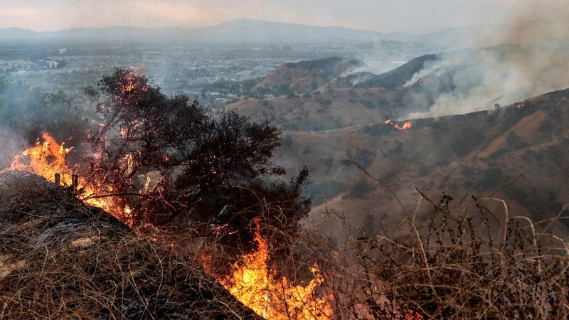 Largest wildfire in LA history rages on