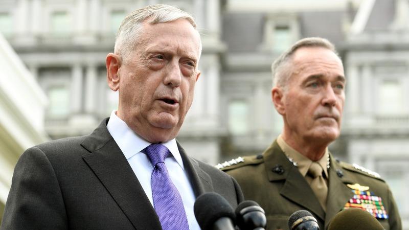 VERBATIM: Mattis threatens 'massive military response' to NK