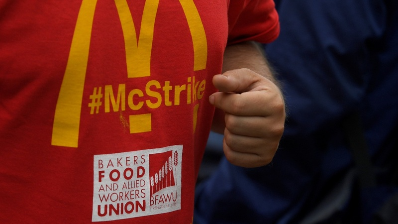 McDonald's workers strike for first time in the UK