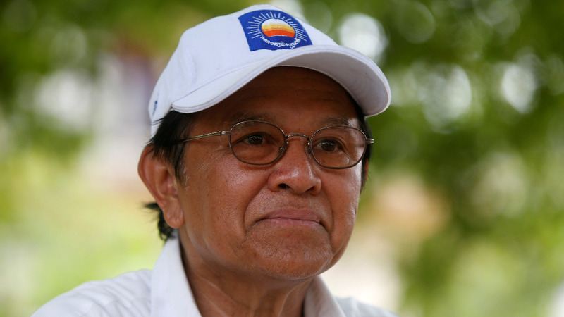 Cambodia's opposition leader charged in political crackdown