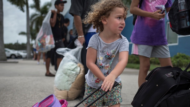 'Pray for us': Floridians hunker down as Irma hits