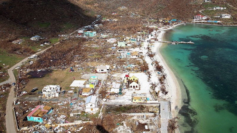 French President visits islands devastated by Irma