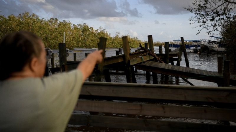 Hard-hit Everglades town mops up after Irma
