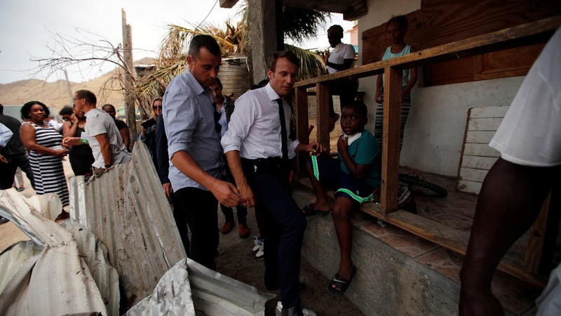 Macron, Johnson tour hurricane-battered Caribbean