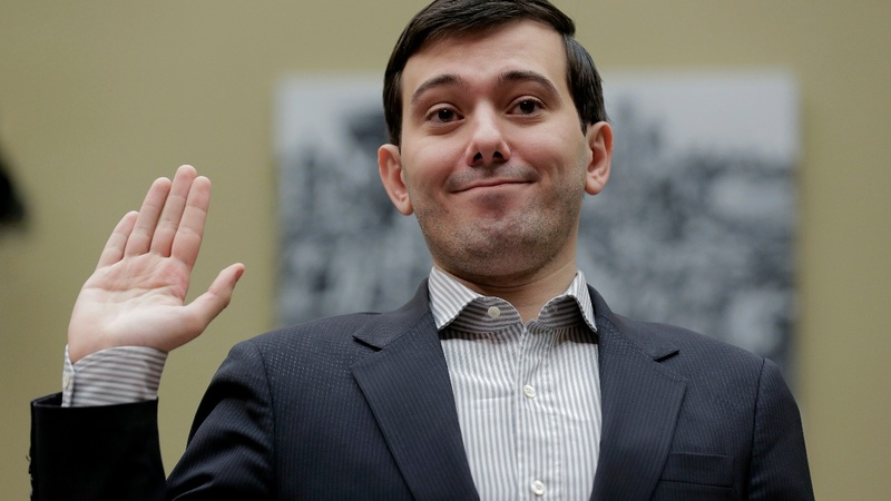 Martin Shkreli is going to jail over Clinton's hair