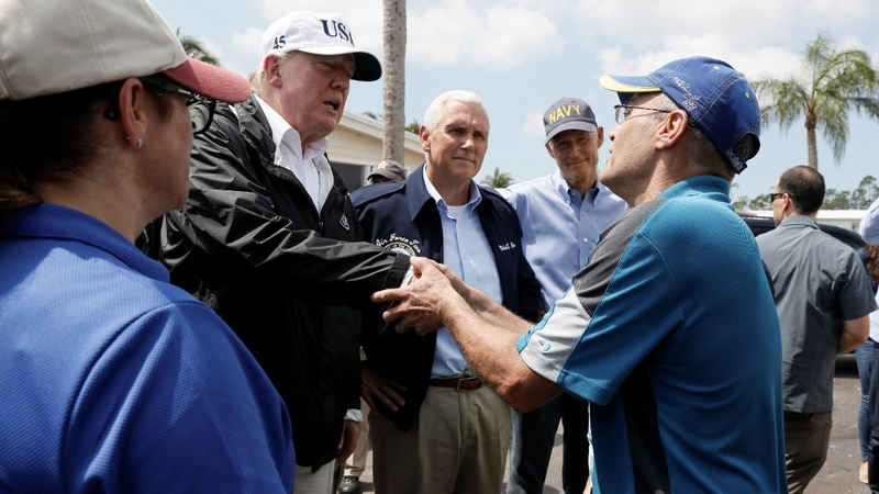 Trump tours Irma damage in Florida