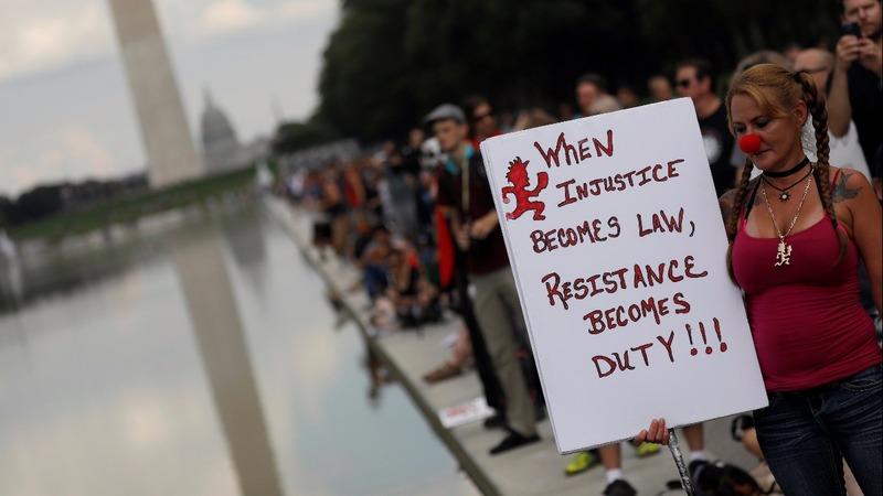Pro-Trump, anti-Trump, Juggalo rallies converge in D.C.