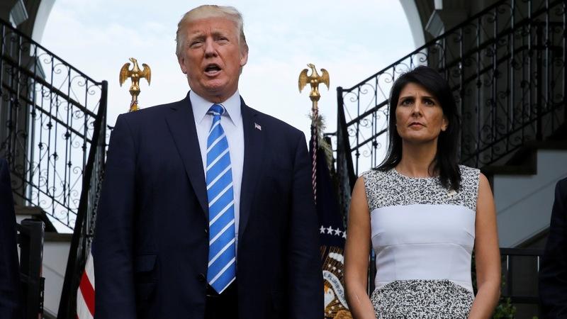 Haley, Trump to share spotlight at U.N.