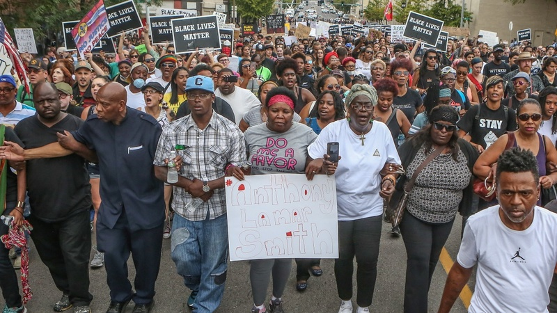 An uneasy calm in St. Louis as protests resume