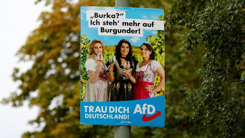 Germany's far-right courts voters with traditional dress