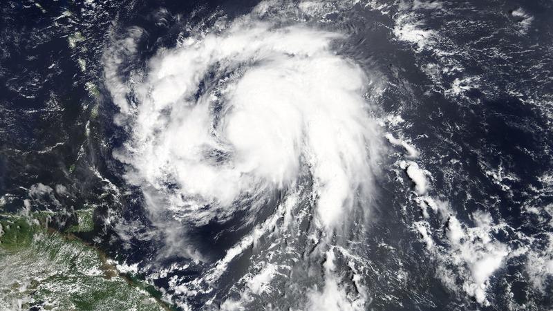 Hurricane Maria grows, veers toward Caribbean