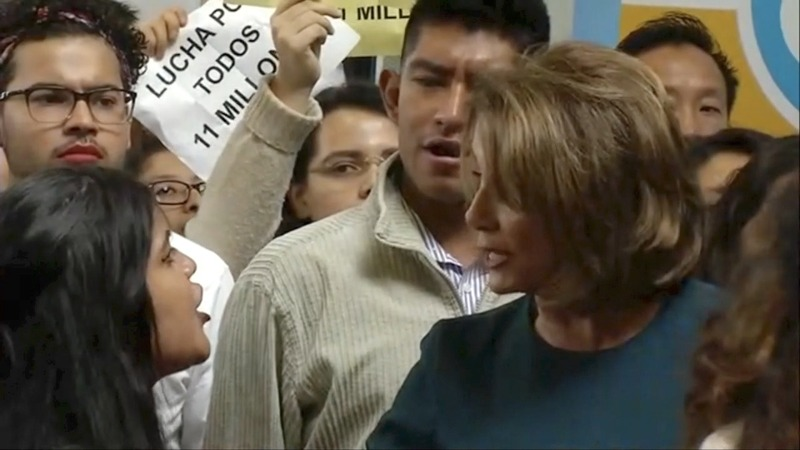 INSIGHT: Pro-DACA protesters storm Pelosi press event