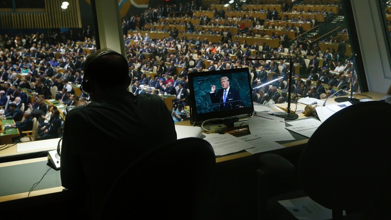Trump rattles U.N. with threat to destroy North Korea