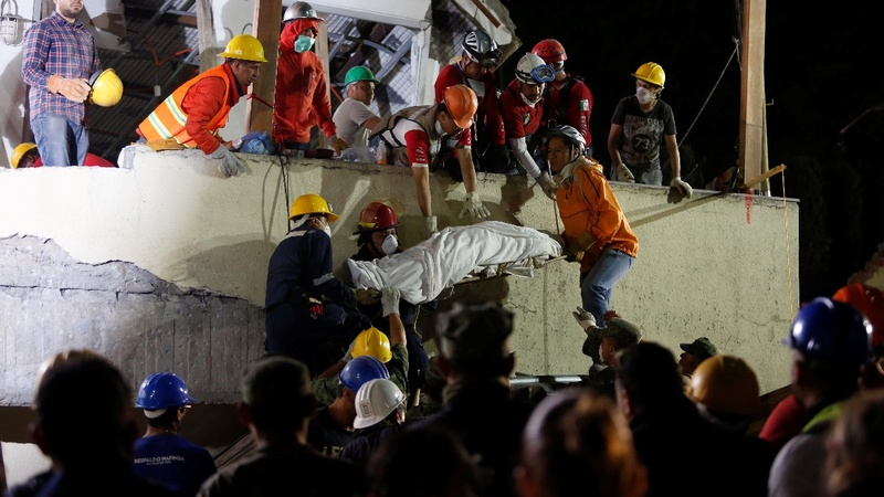 Racing to find survivors after Mexico quake