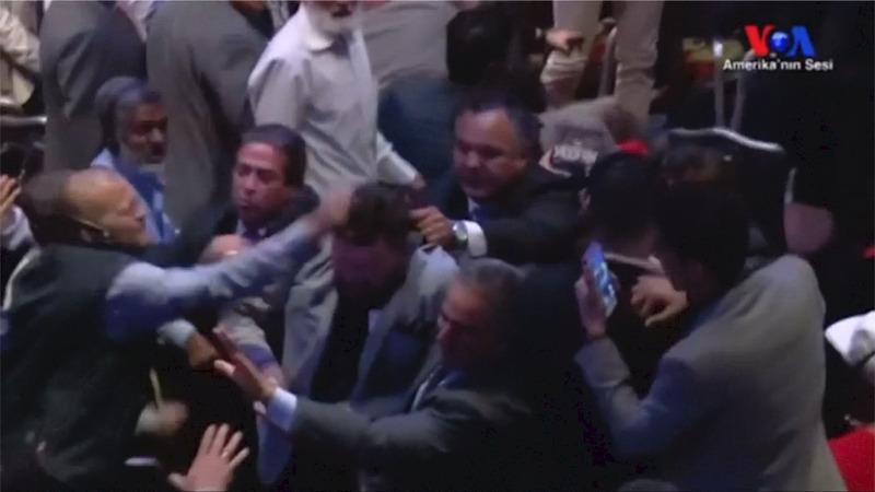 INSIGHT: Fists fly at Erdogan speech in New York