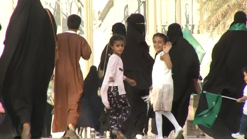 Saudi women allowed into stadium for first time